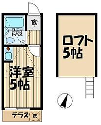 カーサ鎌倉台[105号室]の間取り