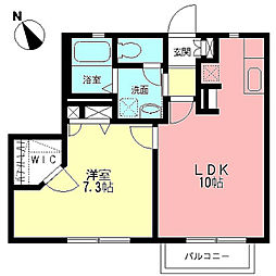 CASA TSUZUKI[202号室]の間取り