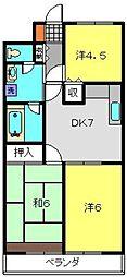 神奈川県横浜市磯子区洋光台1丁目の賃貸マンションの間取り