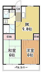 プロスパートウマ[3階]の間取り