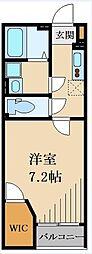 東武越生線 武州長瀬駅 徒歩8分の賃貸アパート 1階1Kの間取り