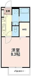 神奈川県川崎市麻生区はるひ野4丁目の賃貸アパートの間取り