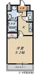 シャルム・堺[8階]の間取り