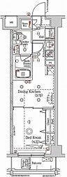 東急多摩川線 矢口渡駅 徒歩4分の賃貸マンション 2階1DKの間取り