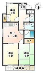 愛知県豊田市梅坪町1丁目の賃貸マンションの間取り