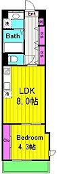 仮)麻生区百合丘1丁目Project 4階1DKの間取り