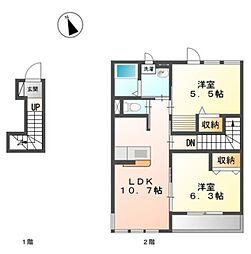 原宿4丁目アパートII期新築工事[203号室]の間取り