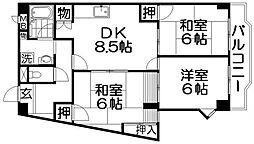 アメニティコート[2階]の間取り