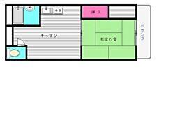 サンハイツ三嶋[4階]の間取り