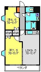 フローラマンション氷川[2階]の間取り