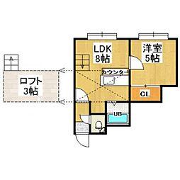 AMS桜D棟[1階]の間取り