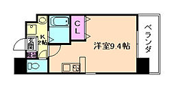 Osaka Metro谷町線 野江内代駅 徒歩6分の賃貸マンション 7階ワンルームの間取り