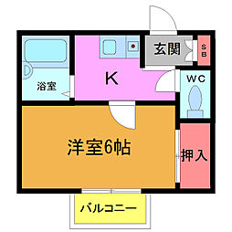 ムーン5[2階]の間取り