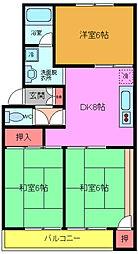 マンションなしや1号棟[2階]の間取り