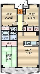 セントポーリア奥田北館[3階]の間取り