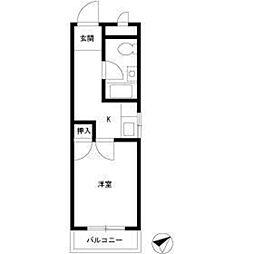 桜ヶ丘ハイム3階Fの間取り画像