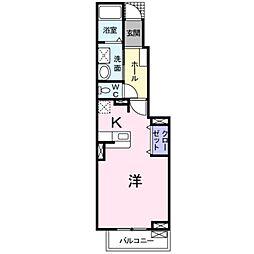 愛知県豊橋市藤沢町の賃貸アパートの間取り