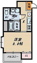 ラ・ボヌール[4階]の間取り