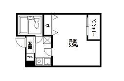 シティパレス21平尾駅前Part3[312号室]の間取り