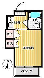 63ビル(ムツミビル)[401号室]の間取り