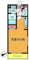 第15モリマンション[208号室]の間取り