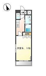 愛知県岡崎市大西2丁目の賃貸アパートの間取り