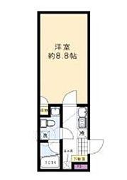東京メトロ南北線 本駒込駅 徒歩10分の賃貸マンション 5階1Kの間取り