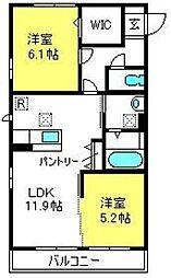 ラークA棟[2階]の間取り