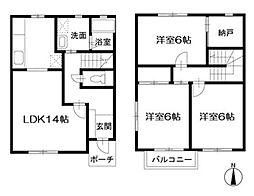 [テラスハウス] 東京都練馬区西大泉2丁目 の賃貸【/】の間取り