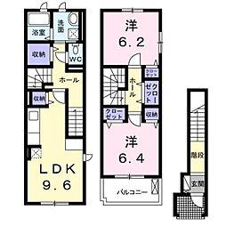 埼玉県さいたま市緑区大字高畑の賃貸アパートの間取り