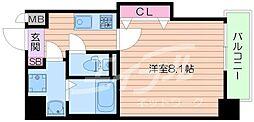 Osaka Metro谷町線 千林大宮駅 徒歩5分の賃貸マンション 9階1Kの間取り