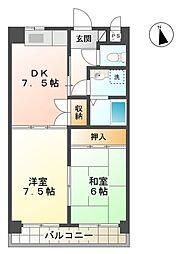 アンシャンテ[7階]の間取り