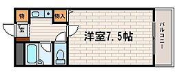 フォレスト大蔵[201号室]の間取り