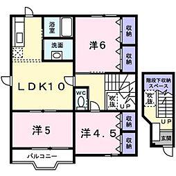 新潟県燕市井土巻4丁目の賃貸アパートの間取り