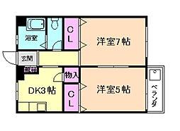 ニュー宝マンション[1階]の間取り