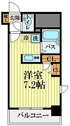 HF国分寺レジデンス 9階1Kの間取り