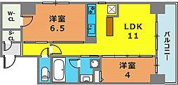 スプランディッド神戸北野[5階]の間取り