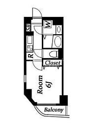 グリフィン品川大井[4階]の間取り