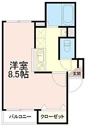 ミヌシモツキ[1階]の間取り