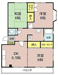 プレジデント岩田[2階]の間取り