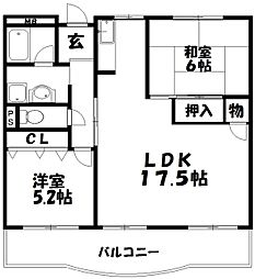 クレインハイツII[1階]の間取り