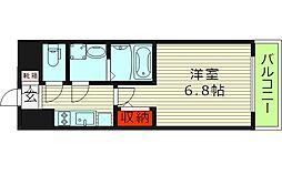 エスリード京橋アミュゼ 10階1Kの間取り