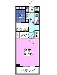 千葉県船橋市西船3丁目の賃貸マンションの間取り