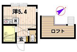 ラフィーネ三ツ沢[2階]の間取り
