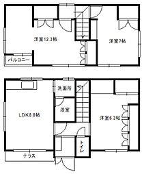 [一戸建] 北海道札幌市白石区本通16丁目北 の賃貸【/】の間取り