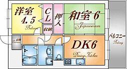 KOBE兵庫壱番館[5階]の間取り