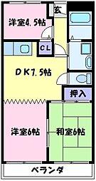 エクセランス福田[2階]の間取り