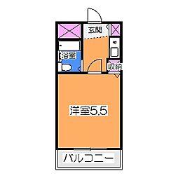 太田ビル 2階1Kの間取り