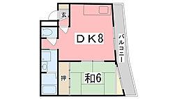 坪田ビル[2階]の間取り