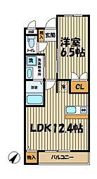 ソワール鎌倉[3階]の間取り